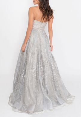 vestido-bibiana-longo-powerlook-cinza