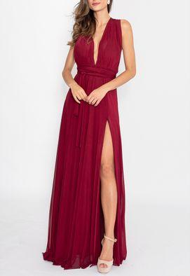 vestido-sana-longo-powerlook-marsala