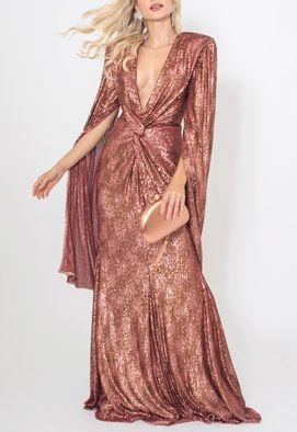 Vestido-Victoria-longo-Unity-Seven-cobre