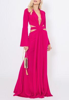 Vestido-Sabrina-longo-Unity-Seven-rosa