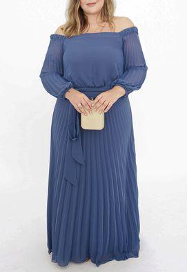 Vestido-Tavares-longo-Powerlook-azul