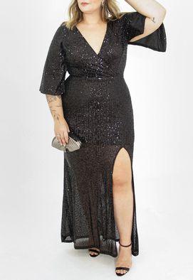 Vestido-Salma-longo-Powerlook-preto