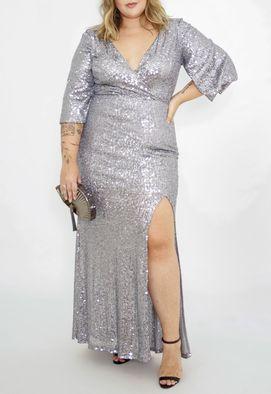 Vestido-Salma-longo-Powerlook-prata