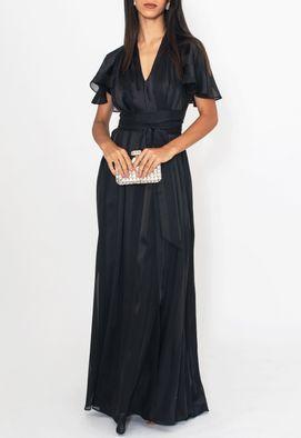 Vestido-Zilu-longo-Powerlook-preto