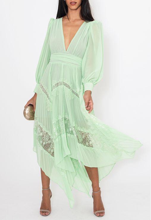 Vestido-Chantili-midi-Powerlook-verde
