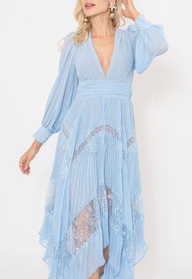 Vestido-Chantili-midi-Powerlook-azul