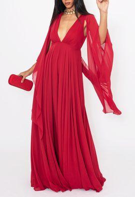 Vestido-Clarin-longo-Powerlook---vermelho