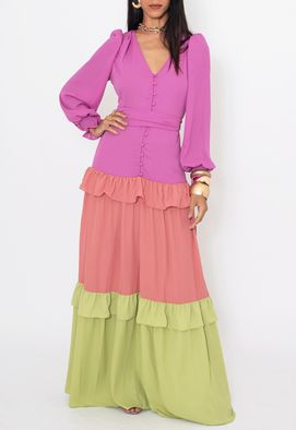 Vestido-Brigite-longo-PowerLook---tricolor